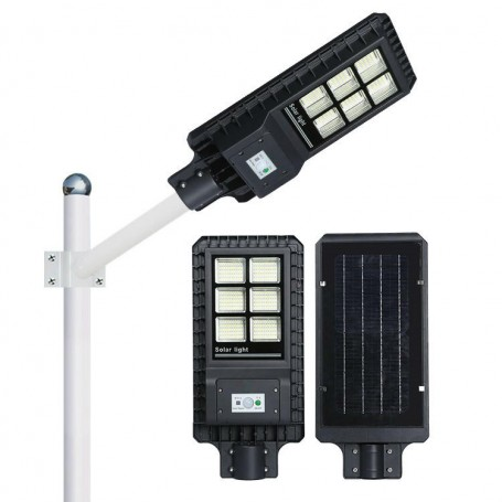 Pachet 4 x Lampa Stradala Proiector LED 30 W - 60 W - 90 W -120W - 180 W  cu incarcare solara, picior metalic inclus