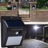 2 x Lampa 20  leduri  cu incarcare solara si senzor de miscare