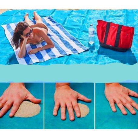 Patura de plaja ce nu retine nisipul 200 x 200, PVC
