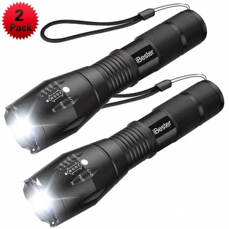 1+1 Gratis:  Lanterna Taclight cu zoom, rezistenta la apa