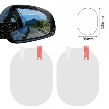 Set 2 folii anti stropi si anti aburire pentru oglinda auto